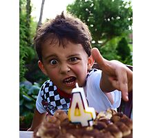 Light the birthday candle!!!!!!!!!!!!!!!!!!!!! Photographic Print