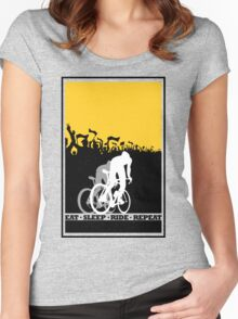 Eat Sleep Ride Repeat Women's Fitted Scoop T-Shirt