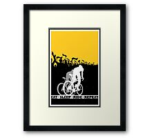 Eat Sleep Ride Repeat Framed Print