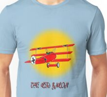 The Red Baron WW1 Fighter Ace, T-shirt, etc. design Unisex T-Shirt