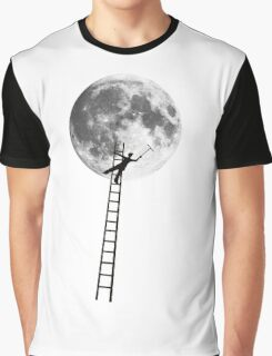 MOONSHINE black and white illustration and silhouette Graphic T-Shirt
