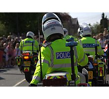 Police Guarding.. Photographic Print