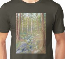 Woodland Stream, Peak District, Derbyshire Unisex T-Shirt