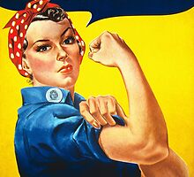 Rosie The Riveter -- We Can Do It by warishellstore