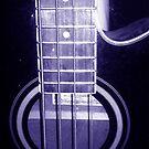 Blue Bass Guitar by julesngems