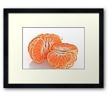 Pealed mandarin orange Framed Print