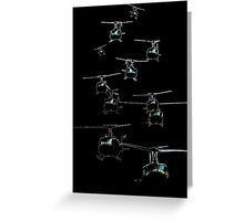 Huey Helicopters Greeting Card