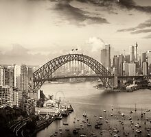 Sepia Dreams - Sydney Harbour, Sydney Australia - The HDR Experience by Philip Johnson