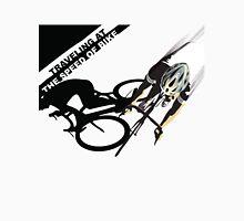 Traveling at the speed of bike retro illustration Unisex T-Shirt