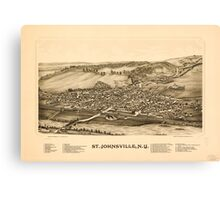 Panoramic Maps St Johnsville NY Canvas Print