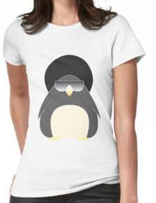 Afro Penguin  Womens Fitted T-Shirt