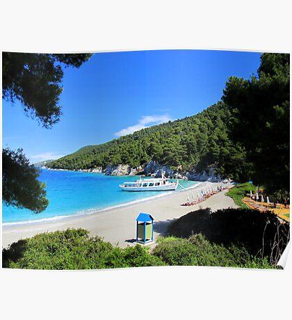 Kastani Beach - Skopelos Poster