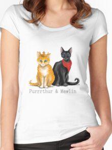 Purrrthur & Mewlin Women's Fitted Scoop T-Shirt