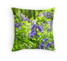 Bluebell wood! Throw Pillow
