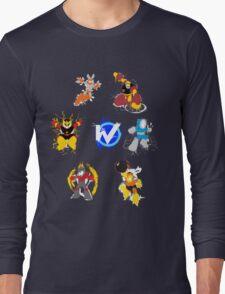 Robot Masters of Mega Man 1 Splatter Art Long Sleeve T-Shirt