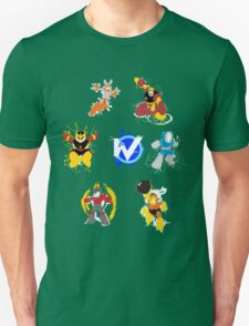 Robot Masters of Mega Man 1 Splatter Art T-Shirt
