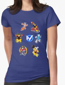 Robot Masters of Mega Man 1 Splatter Art Womens Fitted T-Shirt