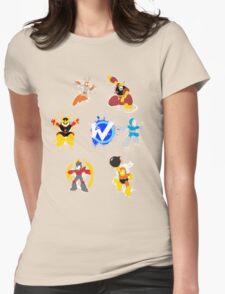 Robot Masters of Mega Man 1 Splatter Art Womens Fitted T-Shirt