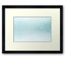 Water bubbles background Framed Print