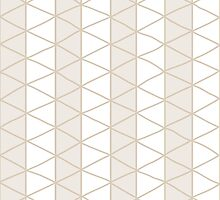 Seamless pattern with circles and hand drawn line grid pattern by BlueLela