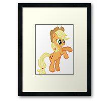 Applejack Pixel my little pony Brony Pegasister Framed Print