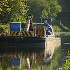 Working barge by John Dunbar