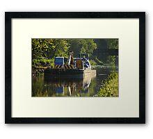 Working barge Framed Print