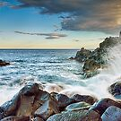 Waves on the rocks  by Andrea Rapisarda