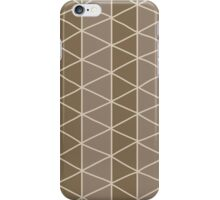 Seamless pattern with circles and hand drawn line grid pattern iPhone Case/Skin