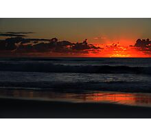 Surfers Paradise Beach at 5.45am  Photographic Print