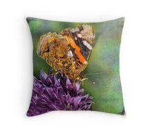 The Red Admiral. Throw Pillow