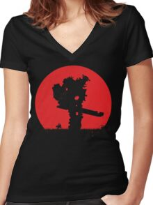 Shadow of the Colossus - V2 Women's Fitted V-Neck T-Shirt