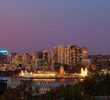 sydney harbour twilight by aurelie k