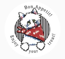 Cat Bon Appetit! Gourmet Pet Foods Product Stickers by offleashart