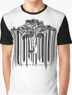 UNZIP THE CODE barcode graffiti print illustration Graphic T-Shirt