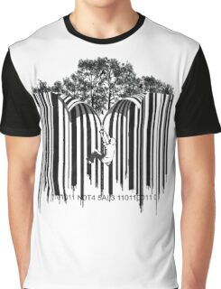 UNZIP THE CODE barcode graffiti print illustration Graphic T-Shirt