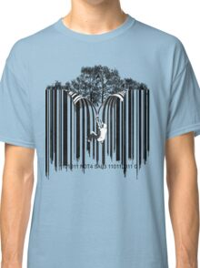 UNZIP THE CODE barcode graffiti print illustration Classic T-Shirt