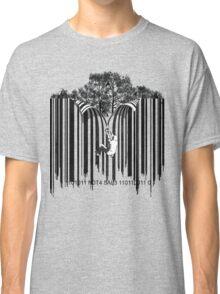 UNZIP THE CODE barcode graffiti print illustration Classic T-Shirt