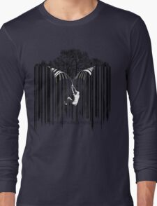 UNZIP THE CODE barcode graffiti print illustration Long Sleeve T-Shirt