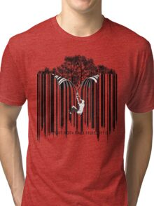 UNZIP THE CODE barcode graffiti print illustration Tri-blend T-Shirt