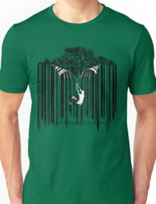UNZIP THE CODE barcode graffiti print illustration Unisex T-Shirt
