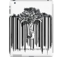 UNZIP THE CODE barcode graffiti print illustration iPad Case/Skin