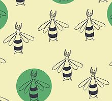 Pattern with beetle by Columbina