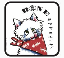 "Cat ""Bone Appetit!"" Gourmet Pet Foods Envelope Stickers by offleashart"