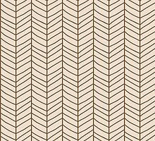 Seamless pattern with hand drawn chevron line grid by BlueLela