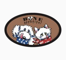 "Dog & Cat ""Bone Appetit!"" Gourmet Pet Foods Product Stickers {Taupe/Brown} by offleashart"