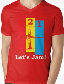 3, 2, 1, Let's Jam! Mens V-Neck T-Shirt