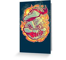 ROASTED MARSHMALLOW MAN Greeting Card
