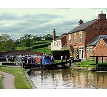 On the way down - lock 3, Braunston...................! Photographic Print