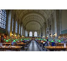 Boston Library Photographic Print